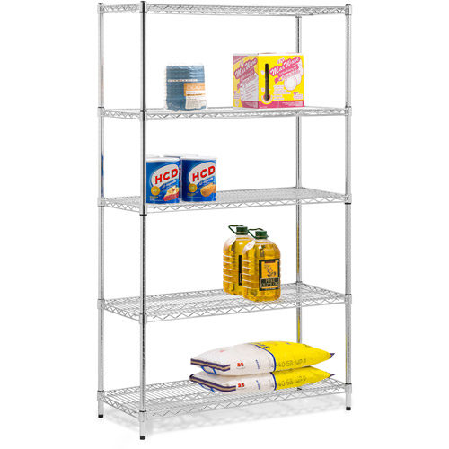 Honey Can Do Urban Shelving 5-Tier Adjustable Storage Shelving Unit, Chrome