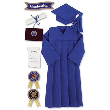 Jolee's Seasonal Stickers, Blue Graduation Cap and Gown - Walmart.com
