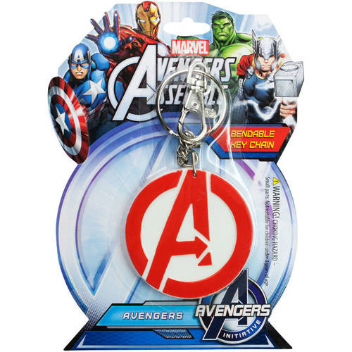 KRB 4606 Avengers A Logo 3 inch Bendable Keychain