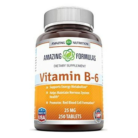 Amazing Formulas Vitamin B6 25 Mg 250 Tablets