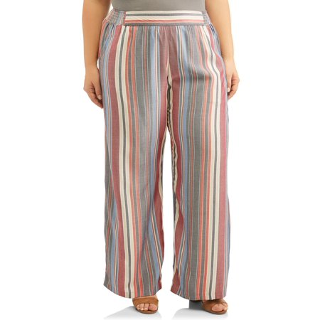 52a45b353c69f5 Romantic Gypsy - Women's Plus Size Soft Pant with elastic waist ...
