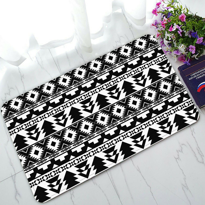 Eczjnt Black White Boho Hippy Doormat Bath Mat Rug Entrance Rug Floor Mats 30x18 Inch Walmart Com Walmart Com