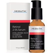 Retinol Serum 2.5% with Hyaluronic Acid, Aloe Vera, Vitamin E - Boost Collagen