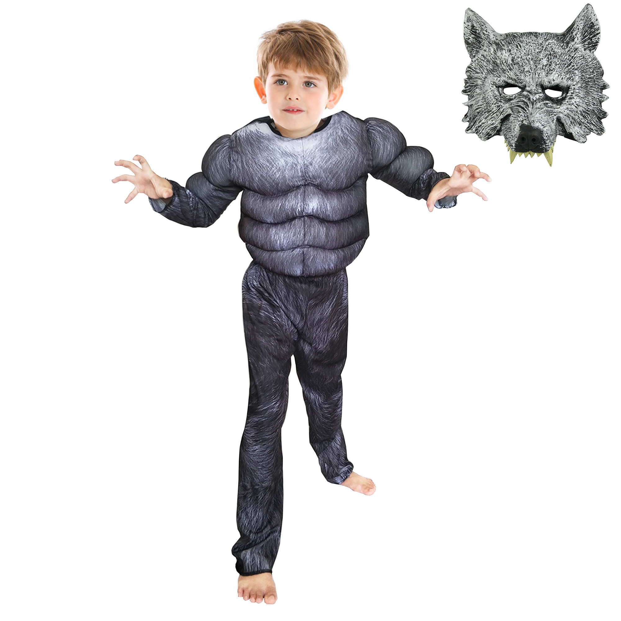 Play Dress Up Costume Gray Wolf Mask Dress Up Halloween Toddler Gift Mask Kid/'s Mask Play Play Mask Party Favor Wolf