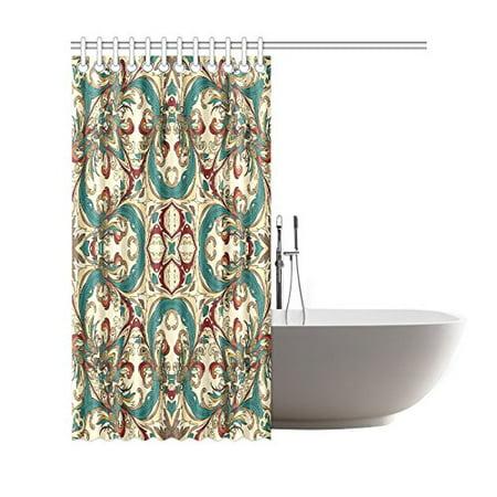 GCKG Baroque Geometric Mandala Shower Curtain, Ethnic Tribal Polyester Fabric Shower Curtain Bathroom Sets 66x72 Inches - image 3 de 3