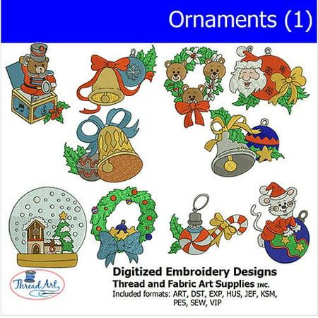Threadart Machine Embroidery Designs Ornaments (1) CD
