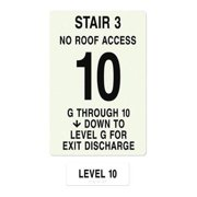 INTERSIGN NFPA-PVC1812(3GN10) NFPASgn,StairId3,FlrLvl10,FlrsSrvd1to 10 G0264540