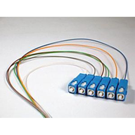 9/125/900um Single Mode SC/UPC Color Coded Pigtail, 3 Meters(6 pcs/pack)
