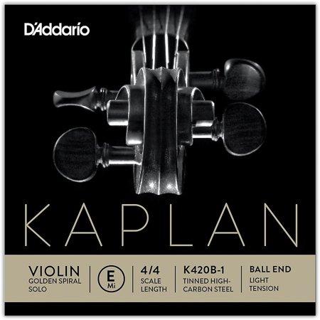 Solid Top 12 String Dreadnought (D'Addario Kaplan Golden Spiral Solo Series Violin E String 4/4 Size Solid Steel Light Ball)