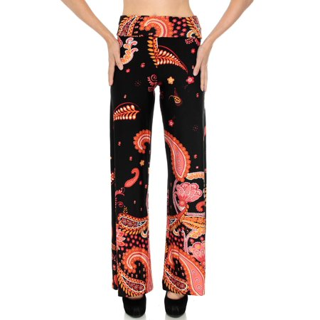 4da0d096fa818 BASILICA - Juniors Flared Wide Leg Pants, Eastern Inspired Red Paisley, M -  Walmart.com