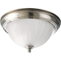 Deals on 0ne-Light Melon Glass 11-3/8-inch CFL Flush Mount