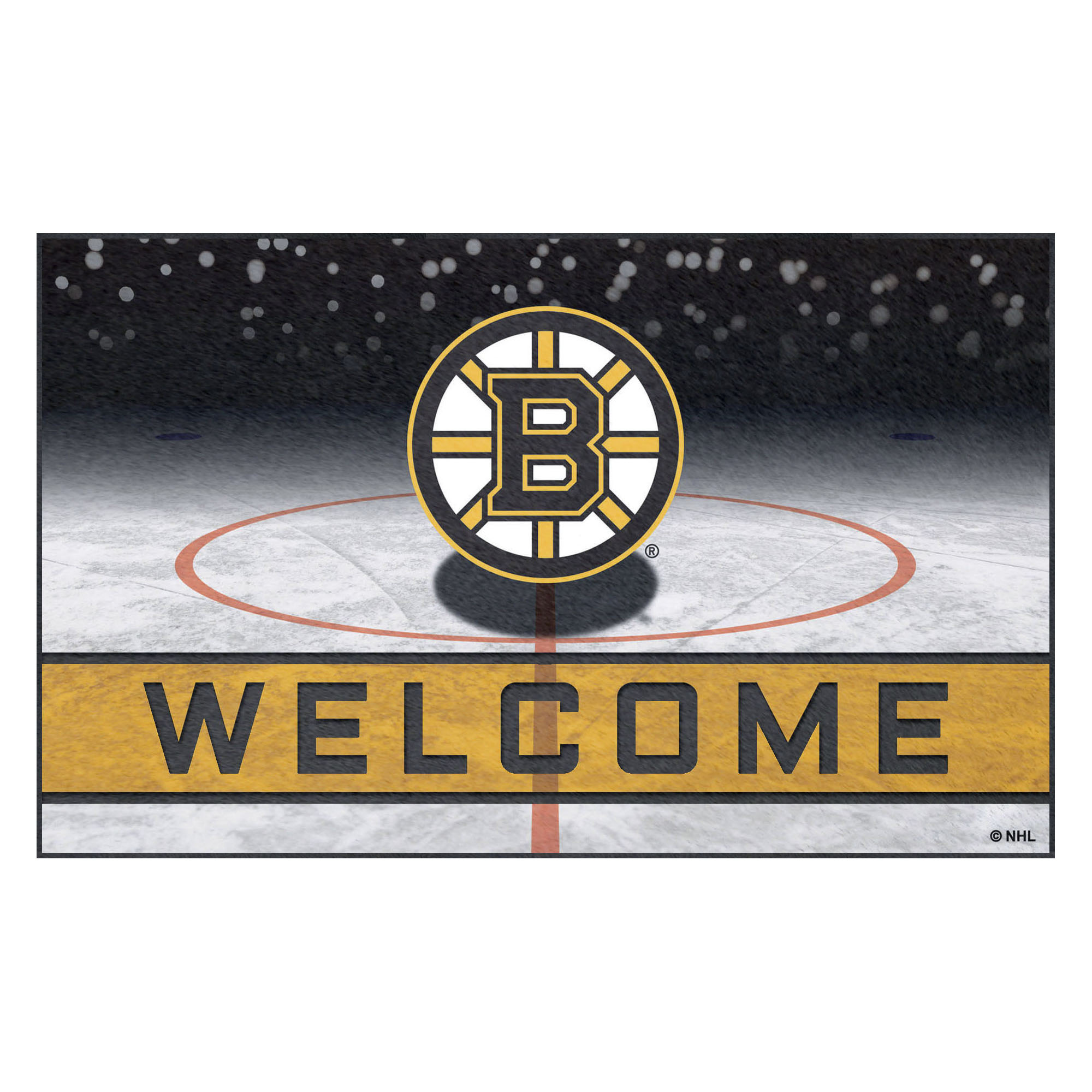 NHL Boston Bruins Heavy Duty Crumb Rubber Door Mat
