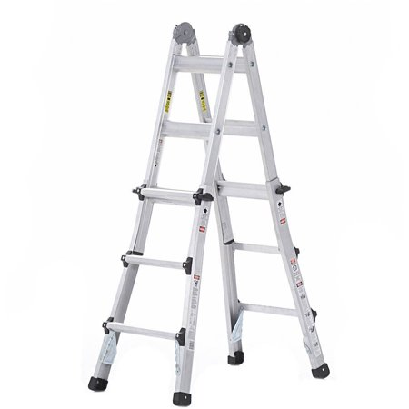 Cosco 14 ft. Aluminum 5-in-1 Multi-Position Ladder with 300 lb. Load Capacity Type IA Duty Rating