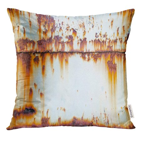 ARHOME Brown Abstract Rust on Old Wall Orange Aged Pillow Case 20x20 Inches Pillowcase