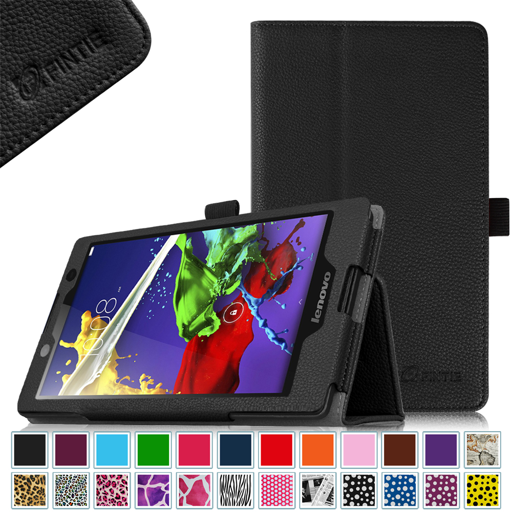 "Lenovo Tab 3 (#TB3-850F) / Tab 2 A8 (#A8-50) 8"" Android Tablet Case - Fintie Premium PU Leather Stand Cover, Black"