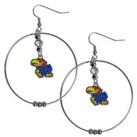 Kansas Jayhawks 2 Inch Hoop Earrings (F)