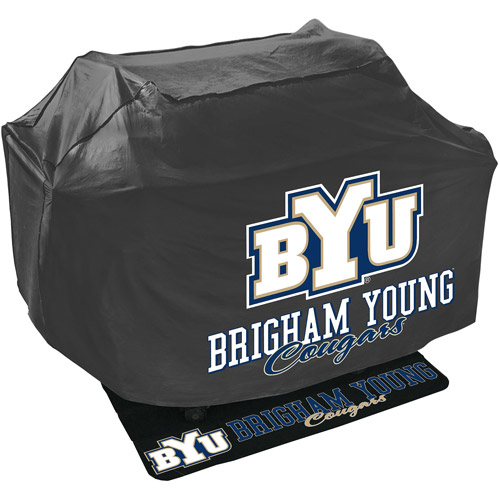 Mr. Bar-B-Q NCAA Grill Cover and Grill Mat Set, Brigham Young University Cougars