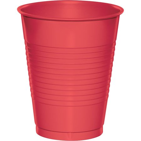 Touch of Color Plastic Cups, 16 Oz, Coral, 20 Ct for $<!---->