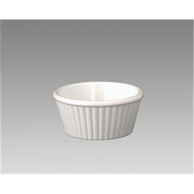 Gessner Products IW-0360A-WH 1 oz. Fluted Ramekin- Case of 12 by Gessner Products Co., Inc.