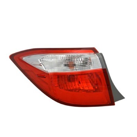 Go-Parts » 2014 - 2016 Toyota Corolla Rear Tail Light Lamp Assembly / Lens / Cover - Left (Driver) Side Outer 81560-02750 TO2804118 Replacement For Toyota Corolla