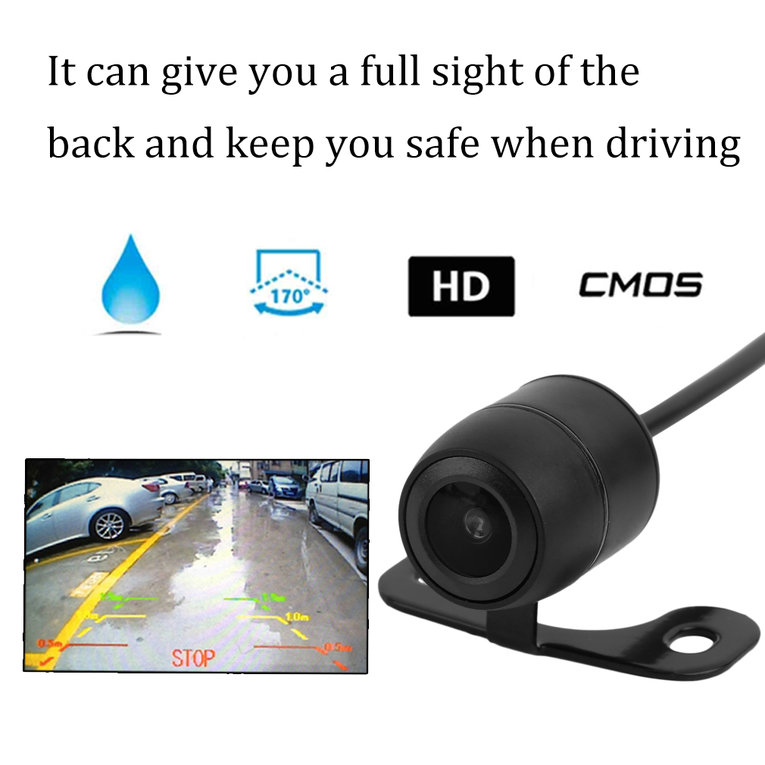 HD CCD 170 Degree Wide Angle Car Auto Rear View Reverse Camera Backup