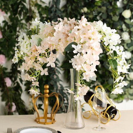 BalsaCircle 41-Inch tall 4 Stems Silk Hydrangea Flowers Home Wedding Party Artificial Bouquets Arrangements Discounted Centerpieces ()