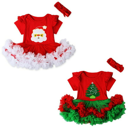 Emmababy My First Christmas Newborn Baby Girl Tutu Dress Skirt