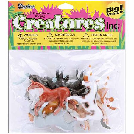 Plastic Horses 2In 8Pk](Plastic Horns)