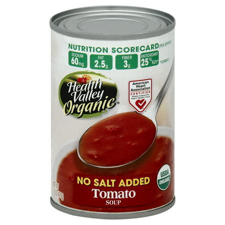 - Health Valley Organic Soup, Tomato, No Salt Added, 15 Fl Oz