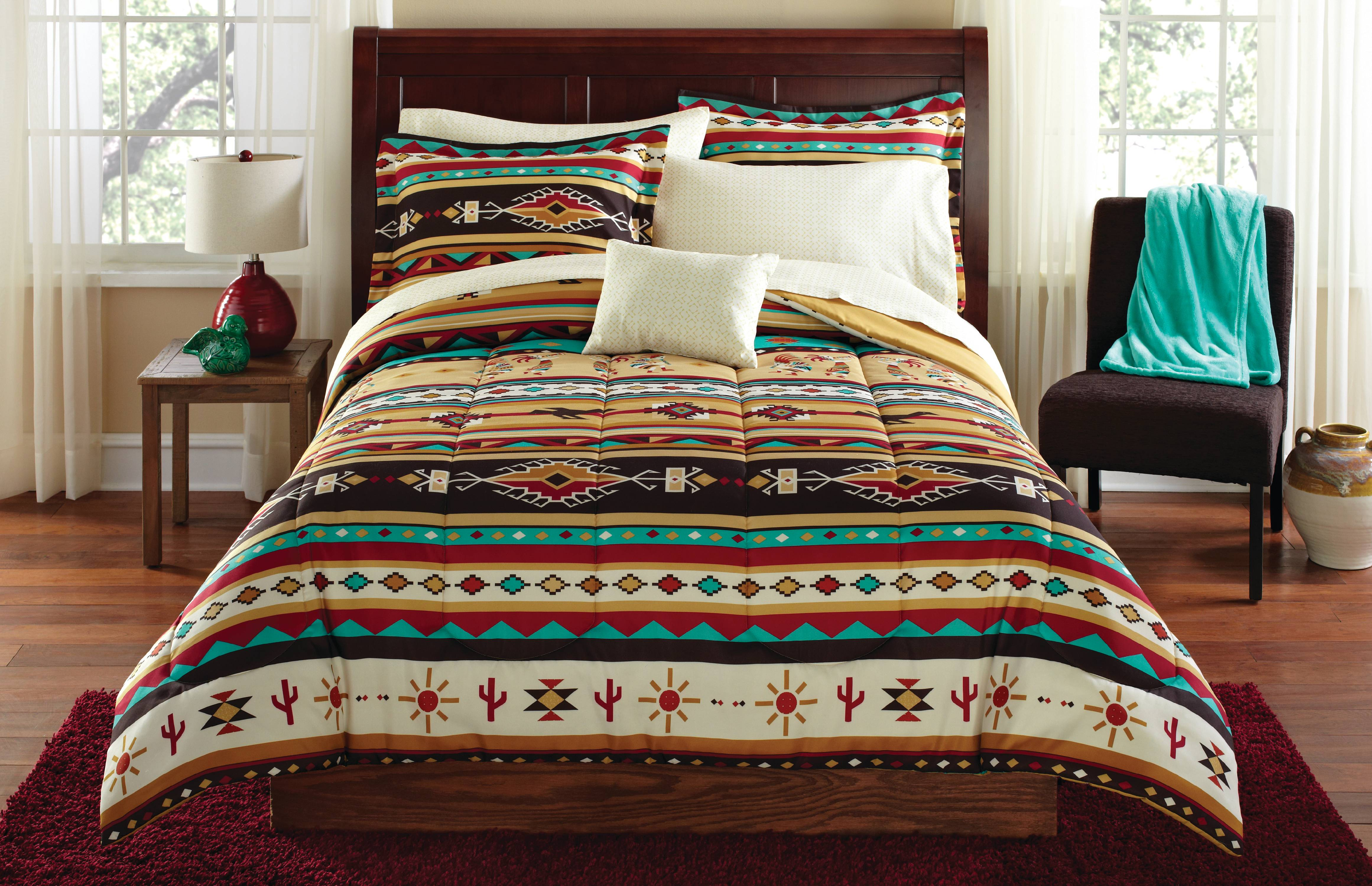 Mainstays Kokopelli Bed in a Bag Bedding Set at Walmart for $19.99 Online