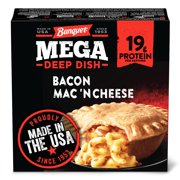 Banquet Mega Frozen Meal, Deep Dish Bacon Mac 'N Cheese, 14 Ounce
