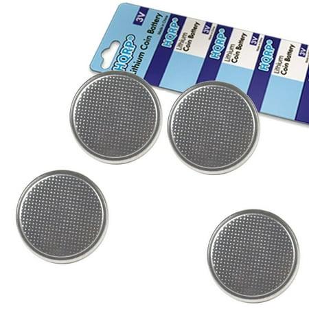 HQRP 4-Pack Coin Lithium Battery for Contour Next, Next EZ Blood Glucose Meter 9628, Blood Sugar Monitor Bayer + HQRP