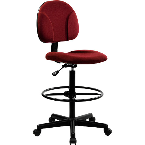 Ergonomic Multi-Function Adjustable Height Drafting Stool, Burgundy