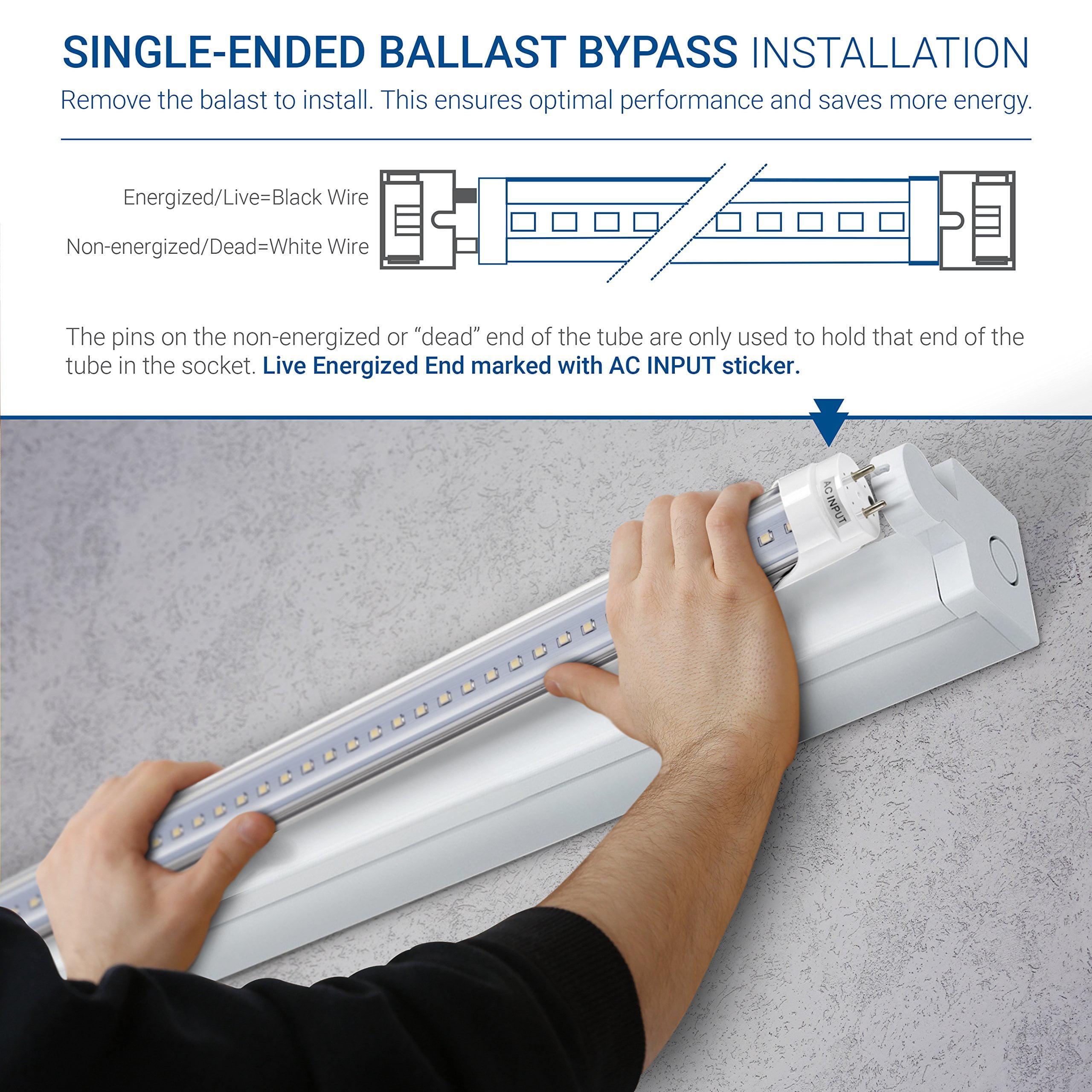 Glass T10 T12 Light 18W Hyperikon T8 4 Foot LED Tube 40 Watt Replacement