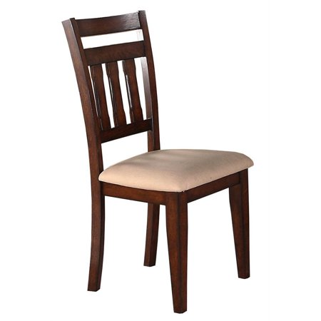 Slat Back Side Chair in Oak Finish - Set of 2