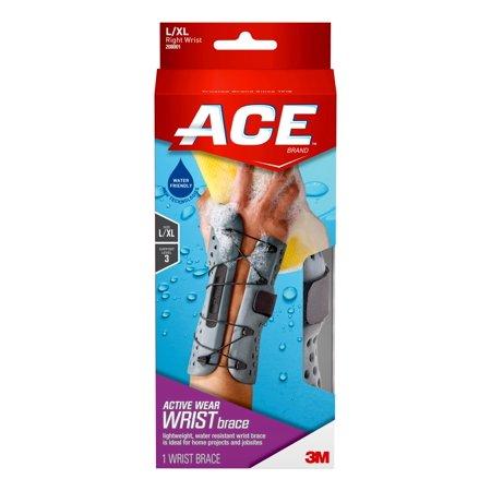 Ace Wrist Brace - ACE Brand Active Wear Wrist Brace, Large / Extra Large, Right Hand