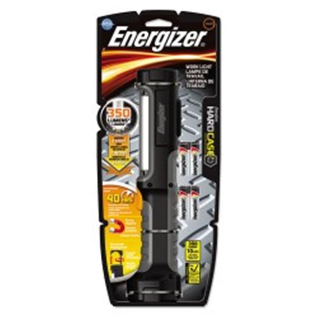 Eveready Battery HCAL41E Hard Case Work Flashlight With 4 AA Batteries, Black