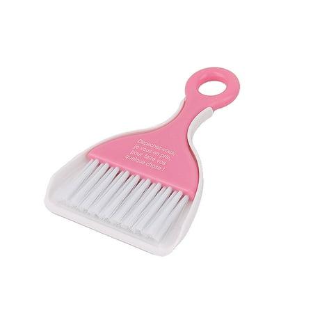 Microwave Oven Gas Range Keyboard Cleaning Tool Broom Dustpan Pink Set 2 in 1