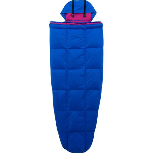Ozark Trail 10-Degree Adult Down Packable Sleeping Bag, Blue/Purple