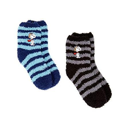 47b6be4ee08a38 Peanuts - Snoopy Socks Women s  Girl s Peanuts 2 pack Fuzzy Slipper ...