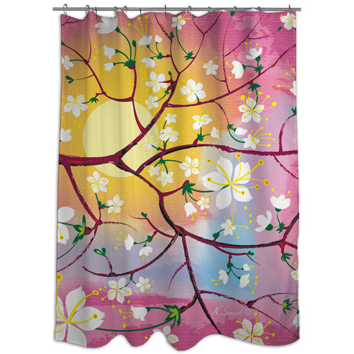 MOD Home Cherry Blossoms Shower Curtain