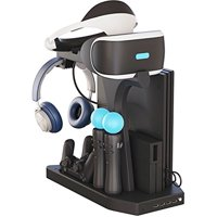 Skywin PSVR Charging Display Stand - Showcase, Cool, Charge, and Display your PS4 VR - Playstation 4 Vertical Stand, Fan, Con