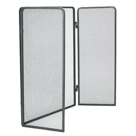 Fireplace Screens Doors - Mind Reader 3 Panel Fire Place Screen Door Panel, Room Divider, Black