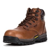 "ROCKROOSTER Mens Work Boots, 6"" Waterproof Wide Safety Shoes, Composite Toe, Non-Slip, Oil Resistant Leather, Kevlar, Memory Foam Insole, EH, Safety Boots AT697PRO BR -11"
