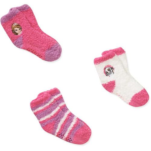 Disney Sofia the First Princess Baby Toddler Girl Socks, 3-Pack