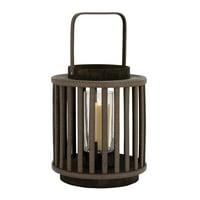 Lining Designed Striking Wood Glass Lantern