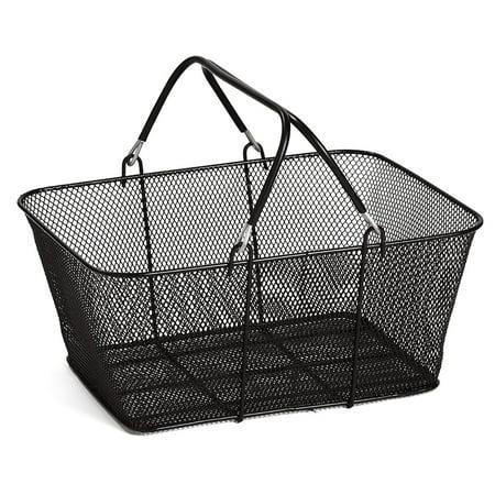 Black Metal Shopping Basket (17x12x7) - Black Metal Basket
