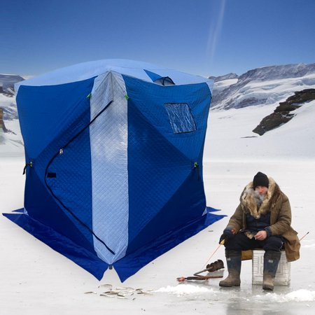 4-person Pop-up Ice Fishing Shelter Tent Portable House Outdoor Fish Equipment - Front House Equipment