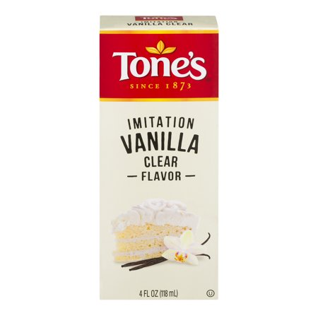 Tone's Imitation Vanilla Clear Flavor, 4.0 FL OZ