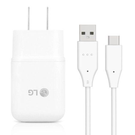 LG G6, G7 ThinQ, LG G8 ThinQ, G8X, LG G Stylo 4, 5 Quick Fast Charge USB Wall Charger + USB-C Type-C Cable Cord Fast Charging Kit Wall Charger Home Power Adapter [1 Wall Charger + 3FT USB-C Cable]